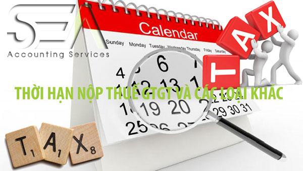 lịch nộp báo cáo thuế 2020