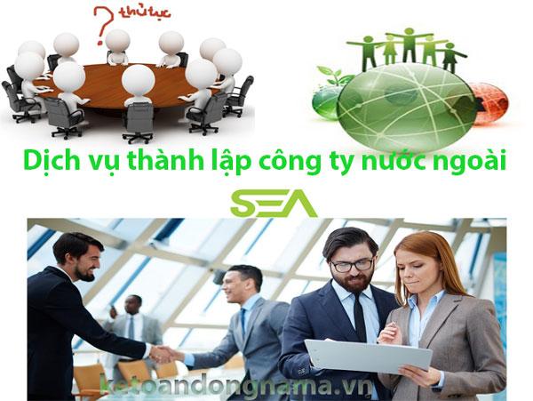 Dịch vụ thành lập công ty nước ngoài của kế toán Đông Nam Á