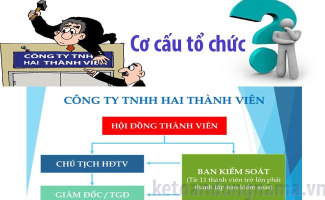 Cơ cấu công ty TNHH 2 thành viên trở lên