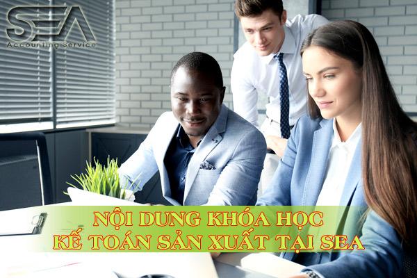 khóa học kế toán sản xuất